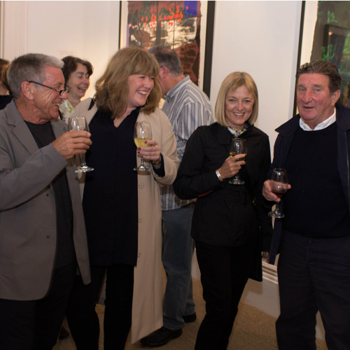 Launch Event, Bruce McLean Exhibition, 2015