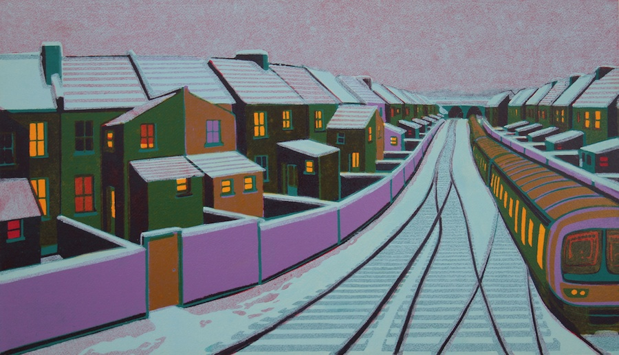 Gail Brodholt -Snow in the Suburbs