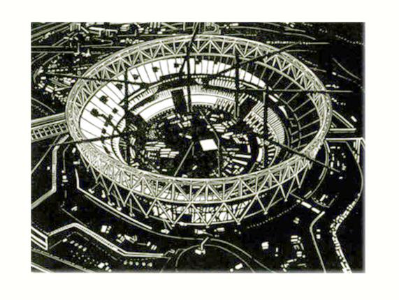 Olympic Stadium with Cranes I
