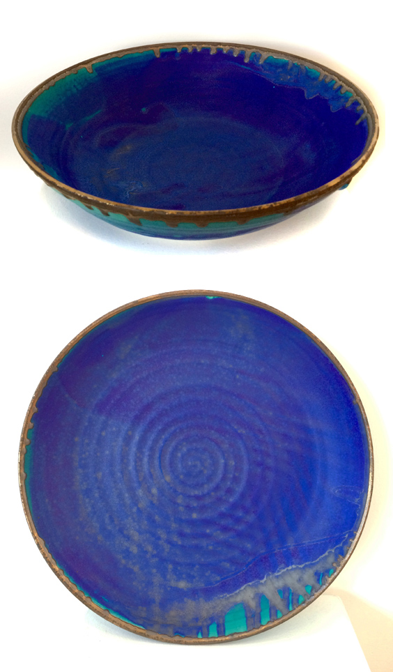 Large Blue Platter