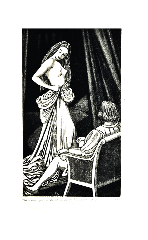 Second day, seventh tale: Alatiel undressed herself before him