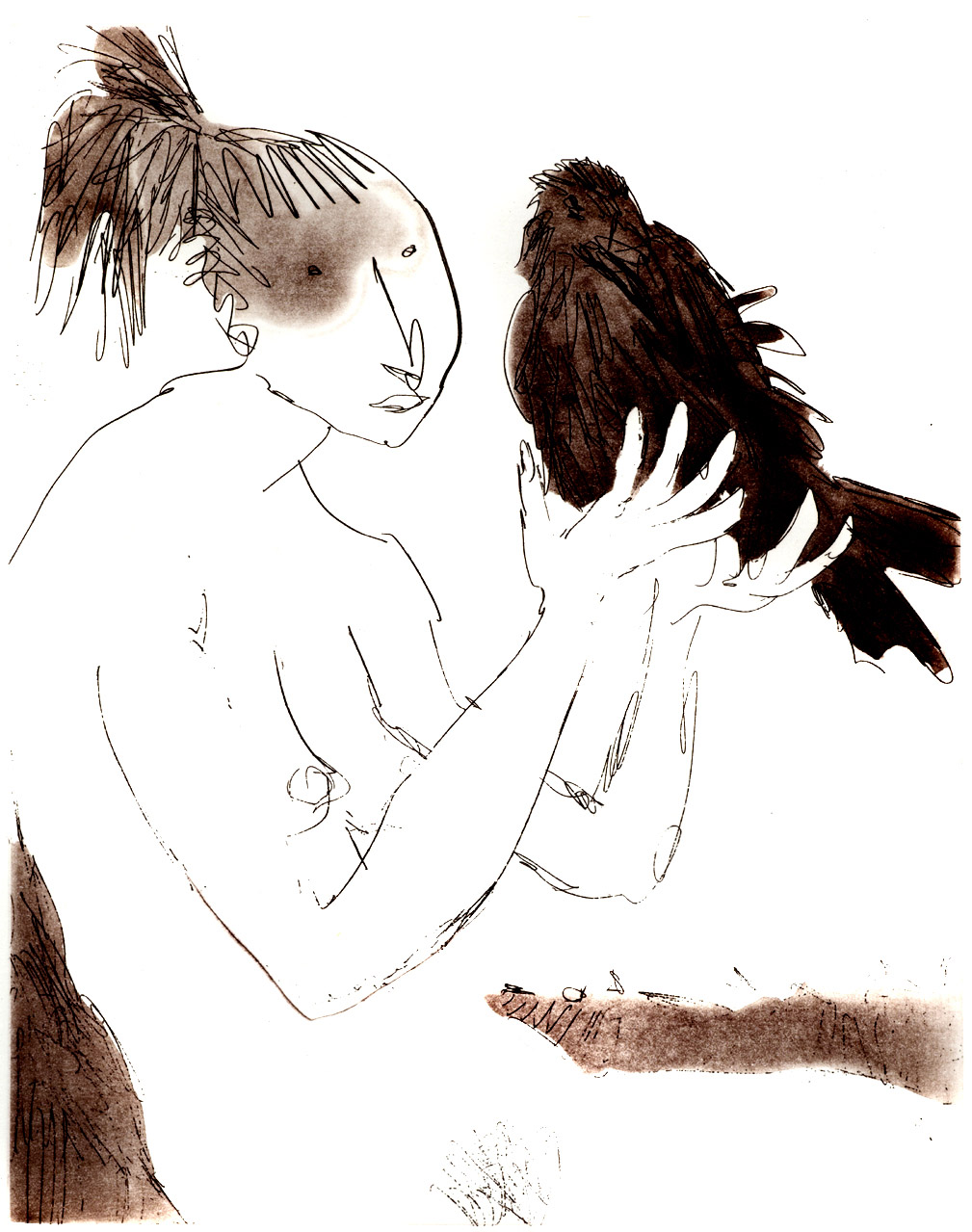 Women with Birds II