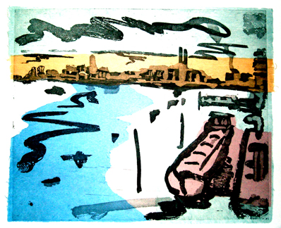 Barges From Battersea Bridge