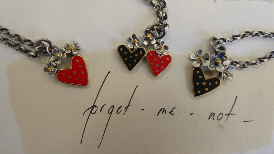 Red Forget Me Not Heart