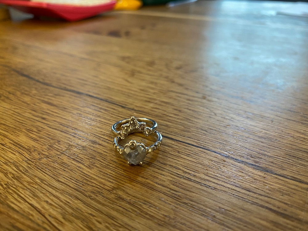 Two Piece Diamond Ring