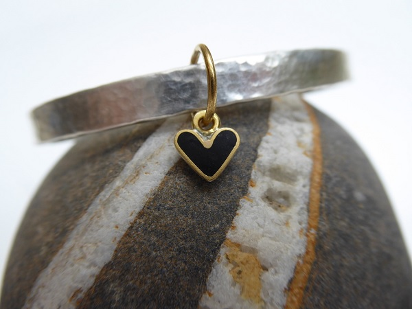 Black Heart Bangle