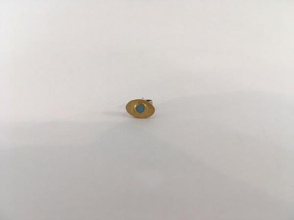 Oval Turquoise Stud