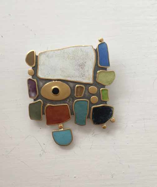 Land Sea Sky Brooch