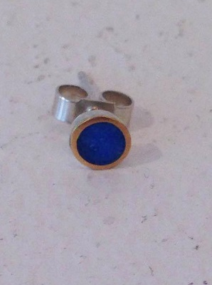 Single Blue Stud with bobble