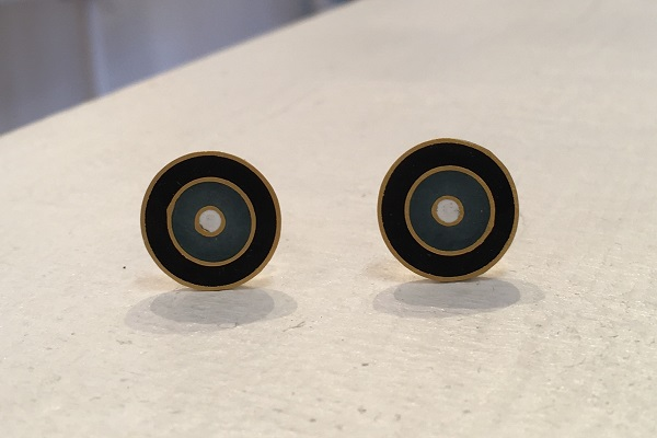 Black and Grey Studs