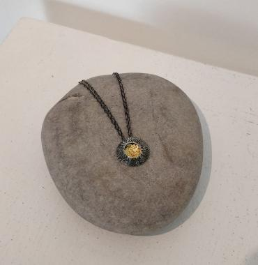 Limpet Pendant Silver and Gold