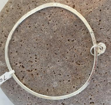 Pebble Bangle with float charms