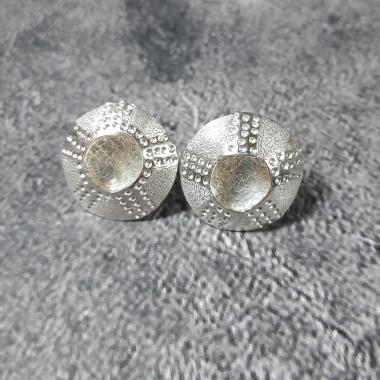 Large Bright Closed Limpet Stud Earrings