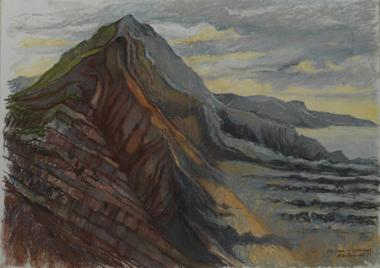 Devon-Purple Rock Strata
