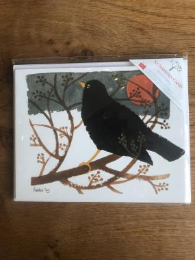 Blackbird in the Snow - Multipack of 15 Christmas cards