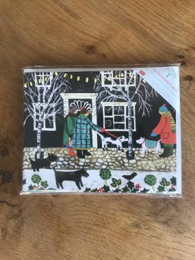 Christmas Lights with Dogs - Multipack of 15 Christmas cards