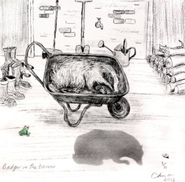 Badger in the Barrow