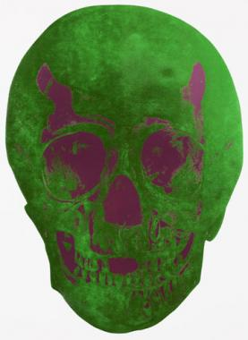 The Dead - LimeGreen / Loganberry Pink Skull 2009