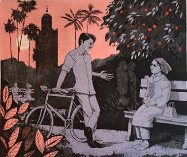 Evening in the orange garden