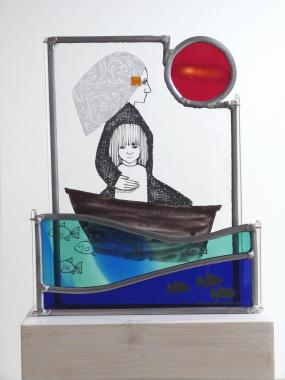 Voyage, stained glass