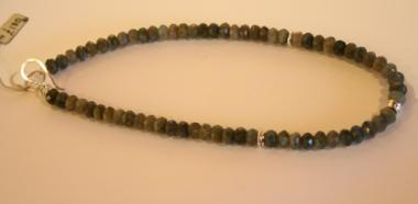 Necklace - Faceted Labradonite & Silver (Larger Beads)