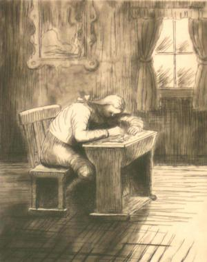 Girl Doing Homework III (1974)
