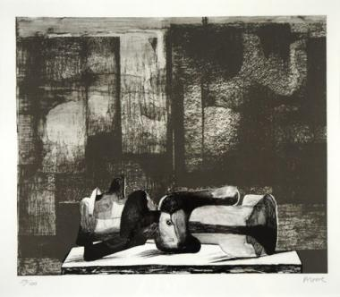 Reclining Figure Architectural Background (1977)