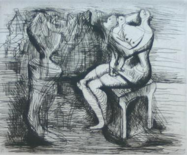 Seated Mother & Child (1951)