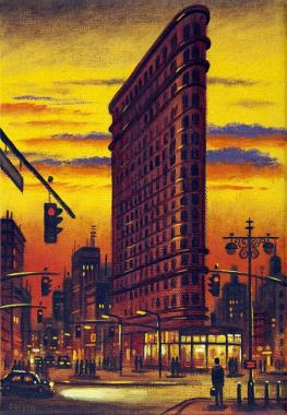 Flat Iron Building Sunset