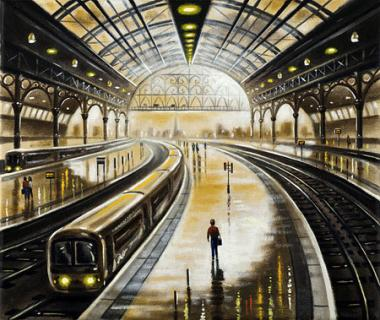 Station Reflections - Lone Traveller