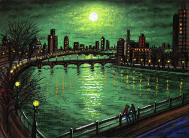 Thames Bridges by Moonlight 2
