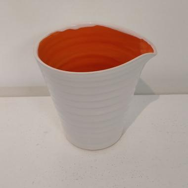 Rainbow Orange Milk Jug