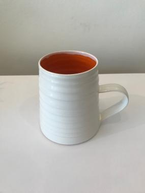 Tall Red Rainbow Mug