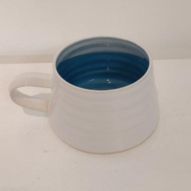 Rainbow Blue wide mug