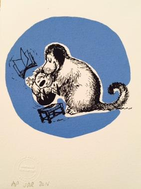 Thelwell Hugging dog