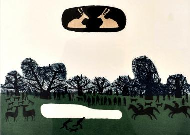 Richmond Park By Julian Trevelyan Official Site Leading Independent Contemporary Art Gallery Original Print Paintings Collectors Works And Studio Pottery For Sale Buy Quality Fine Art Securely On Line At Home Or