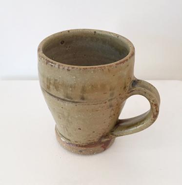 Large Tulip Mug, Ash glaze