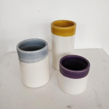 Set of three dipped vase