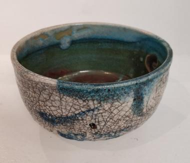 crackle Raku bowl
