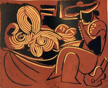 Reclining Woman and Picador with Guitar