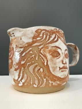 White faces mug