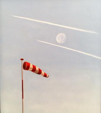 Wind Sock and Moon