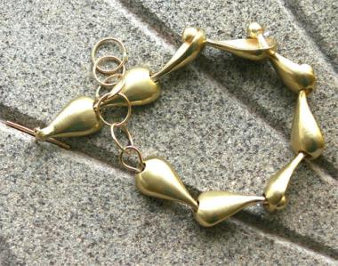 Bracelet - Gold Drops 18ct (8 Links)