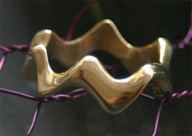Ring - Gold Sqiggle
