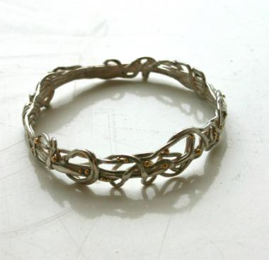 Silver Bracelet - Twine