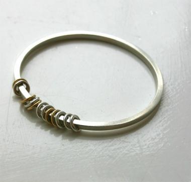 Silver & Gold Bracelet - Rings