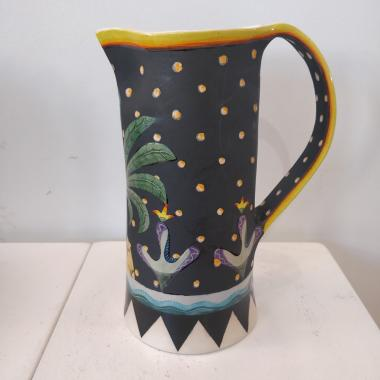 Black Starry Jug With Palm
