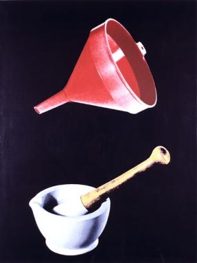 Plastic Funnel, Mortar & Pestle