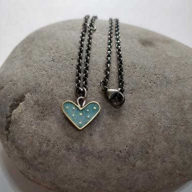 Silver Grey Heart necklace