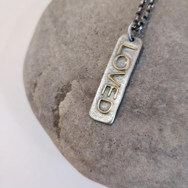 Long Loved Tag Necklace